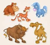 Animals cartoon characters