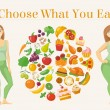 Healthy Lifestyle infographic on wooden background...