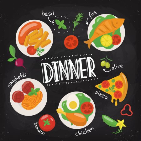 Chalkboard food poster