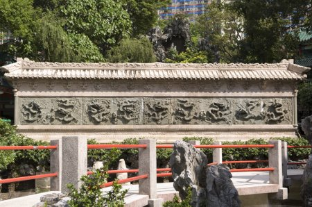 Nine Dragon Wall Sik Sik Yuen Wong Tai Sin Temple Religion Great Immortal Wong Prayer Kau CIm Insence