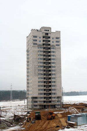 Construction of apartment house