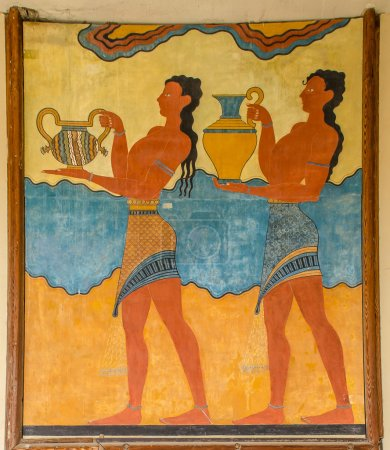 Photo for Fragments of ruins Knossos Palace. Murals, artifacts. Summer 2014 - Royalty Free Image