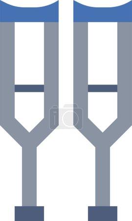 Illustration pour Conception icône béquilles. Isolé sur fond blanc. Illustration vectorielle - image libre de droit