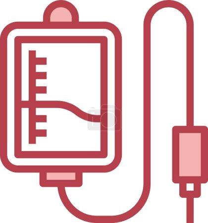 Illustration pour Icône de don de sang, illustration vectorielle - image libre de droit
