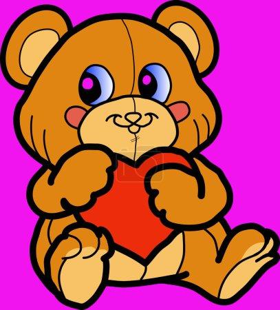 Bear with heart.
