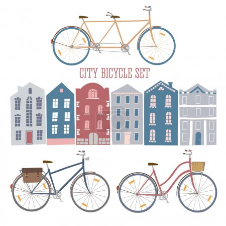 City style colorful cycles and