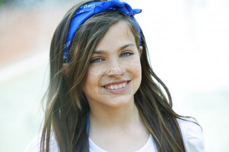 Photo for Beautiful girl smiling, close-up - Royalty Free Image