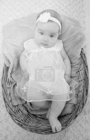 baby girl lying