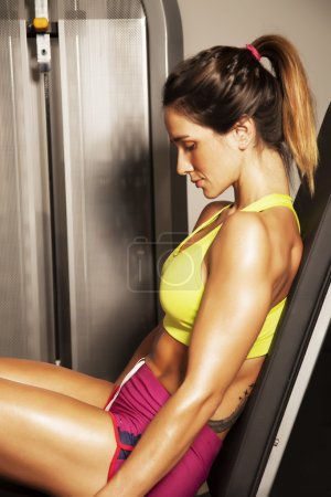 Photo for Young woman doing exercise - Royalty Free Image