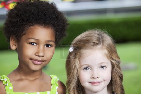 Photo for Two little girls smiling - Royalty Free Image