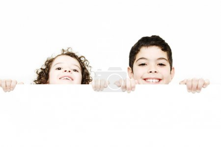 Cute  children smiling