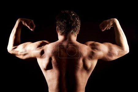 strong man posing