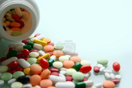pills and plastic bottle