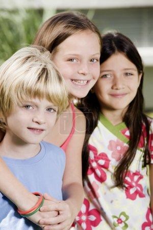 Photo for Happy smiling children posing - Royalty Free Image