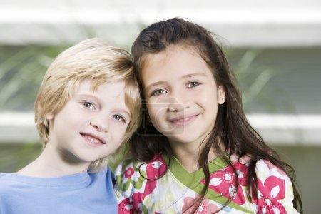 happy children posing