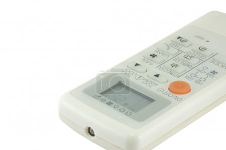 Air conditioner remote control. with white background