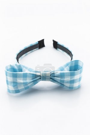 Blue and white headband