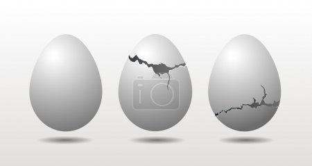 Three eggs - egg concept