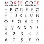 Alphabet and numerals in Morse Code