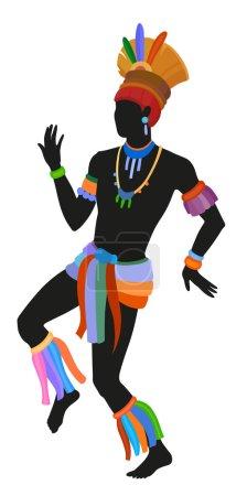 Ethnic dance brasilian man