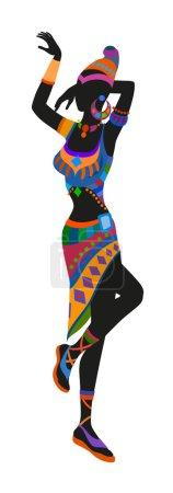 African woman dancing