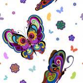 Flying bright butterflies