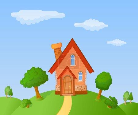 Cartoon small house