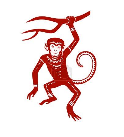 Monkey in festive patterns
