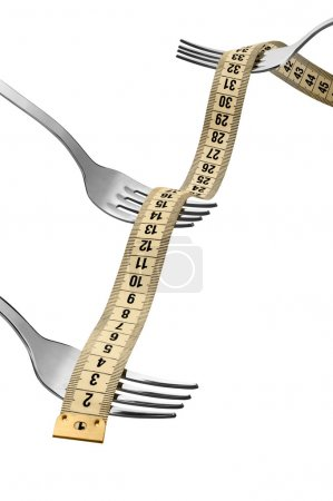 measuring tape with forks