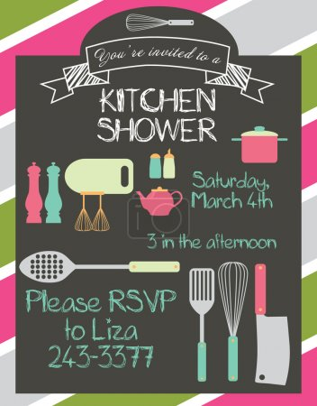 Kitchen shower card