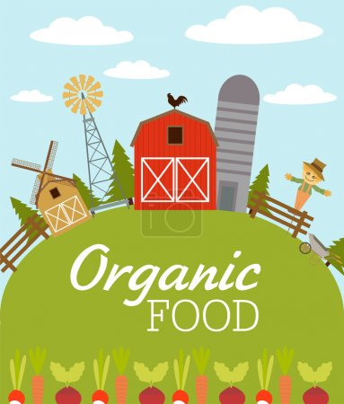 Poster: Organic food American farm
