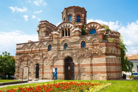 Photo for The Church of Christ Pantocrator is a medieval Eastern Orthodox church in the Bulgarian town of Nesebar on the Black Sea coast of Burgas Province. Part of the Ancient Nesebar UNESCO World Heritage Site. - Royalty Free Image