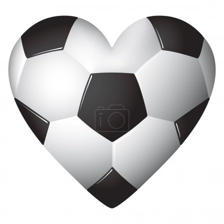 Heart shaped football - soccer - ball illustration