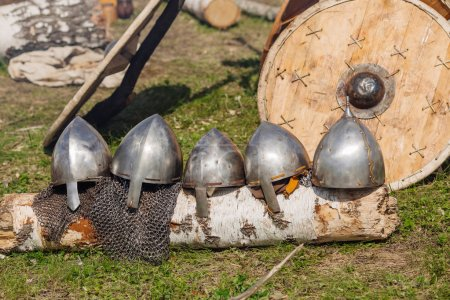 Slavic warrior armor, with a stylized 10th century