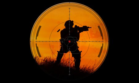 Sniper during night mission/operation hostage resc...
