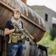 Постер, плакат: Private Military Contractor during the special operation