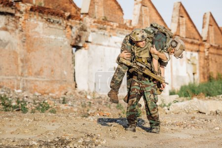 Private Military Contractor during the rescue operation