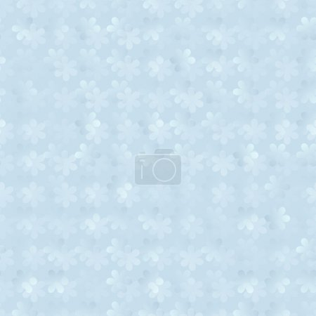 Abstract 3d background of seamless floral pattern