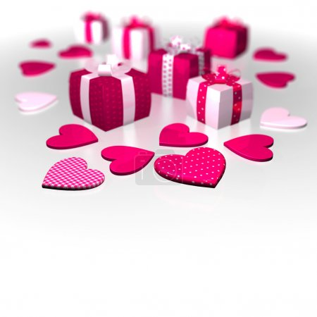 Thickness Gifts polka caro white pink roseate