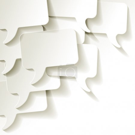 Chat speech bubbles vector white background...