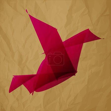 Ilustración de Origami de ave insignia freelance - Imagen libre de derechos