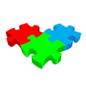 RGB PUZZLE 3D vector on white background
