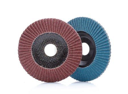 Abrasive wheels isolated on white background