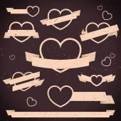Plochá sada bannerů Valentýn