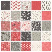 Set of 25 valentine's day patterns