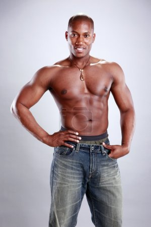 African American fitness boy