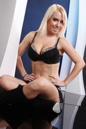 Cheerleader woman posing