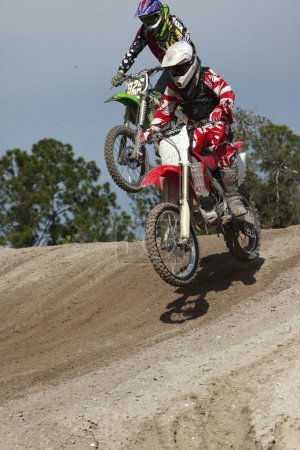 Motorcycles are going to compete in motocross