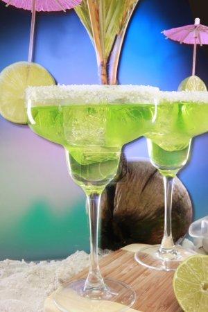 Cold margarita cocktail