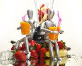 Gyümölcsök, bábuk és turmixgép